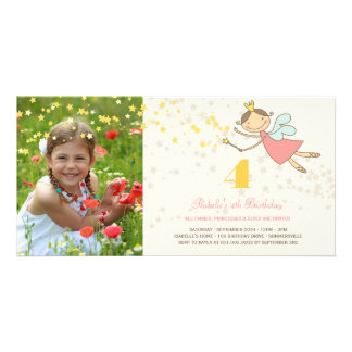 Whimsical Fairy Princess Girl Kids Birthday Party Card