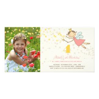 Whimsical Fairy Princess Girl Kids Birthday Party Photo Card
