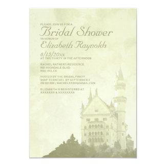 "Whimsical Fairytale Castle Bridal Shower Invites 5"" X 7"" Invitation Card"