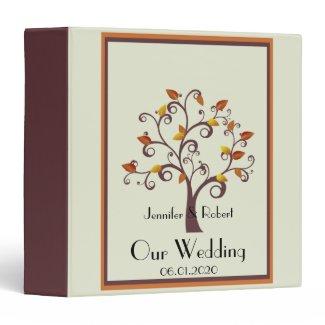 Whimsical Fall Tree Wedding Binder