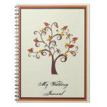 Whimsical Fall Tree Wedding Journal Notebooks