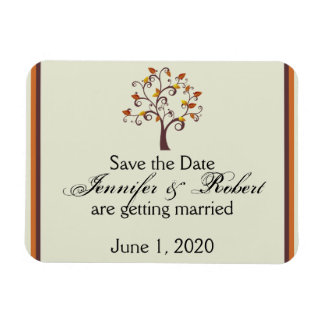 Whimsical Fall Tree Wedding Save the Date Magnet