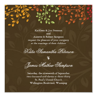 Whimsical Fall Wedding Invitation