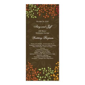 Whimsical Fall Wedding Program
