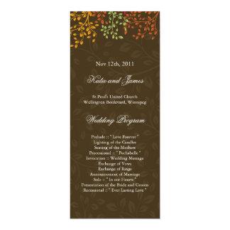 Whimsical Fall Wedding Program Card