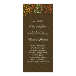 Whimsical Fall Wedding Program Custom Announcement