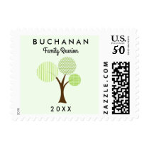 Whimsical Family Reunion Tree Coordinating Small Postage