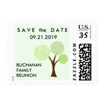 Whimsical Family Reunion Tree Postcard Small Postage