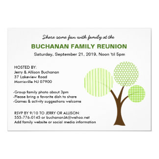 Charming Whimsical Family Tree Family Reunion Invitation Intended Invitations For Family Reunion