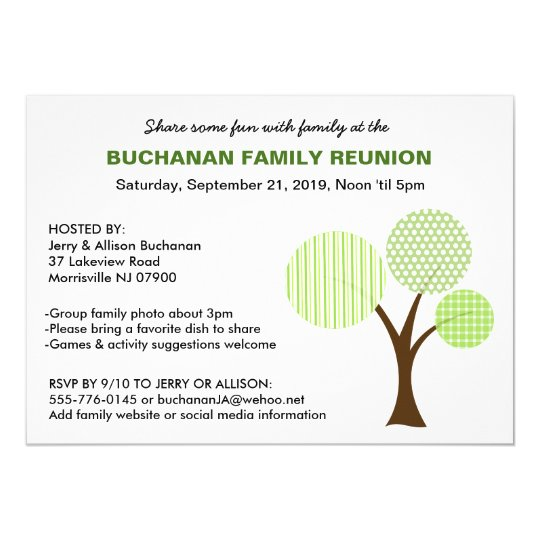 Whimsical Family Tree Family Reunion Invitation  ZazzleCom