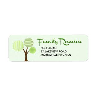 Whimsical Family Tree Family Reunion Return Label