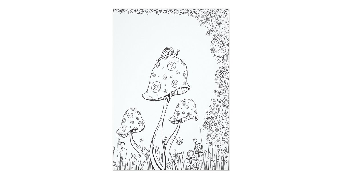 whimsical flower coloring pages - photo#30