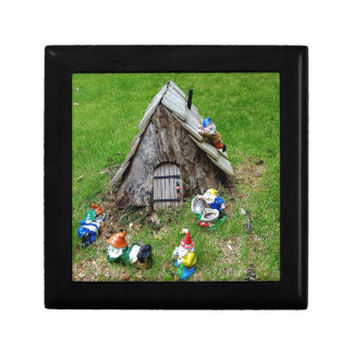 Whimsical Fantasy Outdoor Gnomes With House Gift Box
