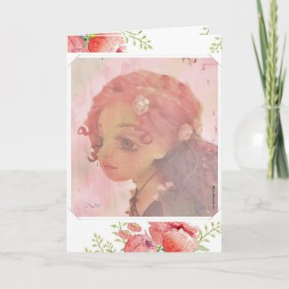 Whimsical Fantasy Painting Girl Greeting Card