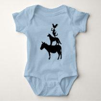 Whimsical Farm Animals Baby Bodysuit