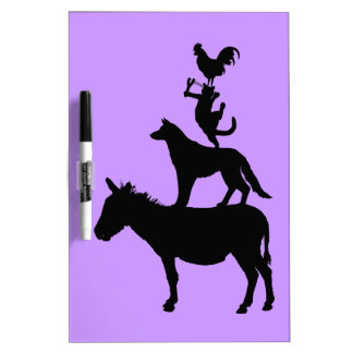 Whimsical Farm Animals Pets Dry-Erase Board
