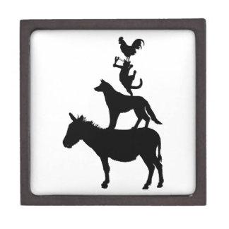 Whimsical Farm Animals Pets Jewelry Box