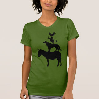 Whimsical Farm Animals T-Shirt