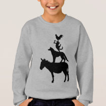 Whimsical Farm Animals Youth Sweatshirt