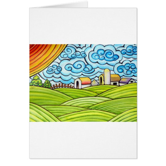 Whimsical Farm Card