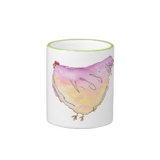 Whimsical Fat Chicken Mug