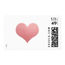 Whimsical Faux Rose Foil Heart | Modern Wedding Postage