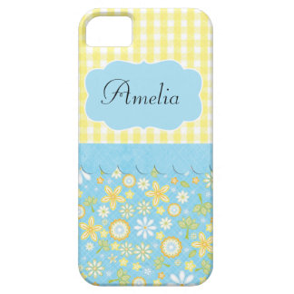 Whimsical Feminine Teal Iphone Case
