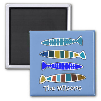 Whimsical Fish Coastal Nautical Beach House Magnet