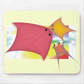 Whimsical Fish Gifts Mouse Pad