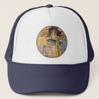 Whimsical Fish Pisces Woman Gothic Trucker Hat