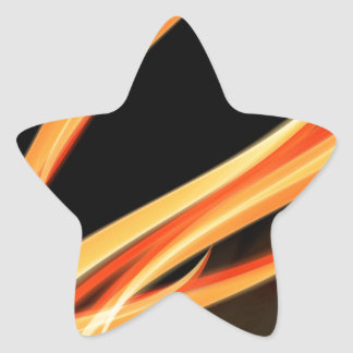 Whimsical Flames and Glow - Magic, Stripes, Flow Sticker
