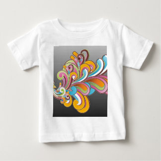 Whimsical Floral Abstract Baby T-Shirt