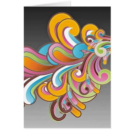 Whimsical Floral Abstract Card