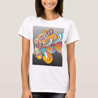 Whimsical Floral Abstract T-Shirt