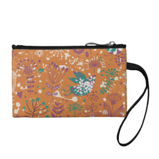 Whimsical Floral Birds Coin Wallet
