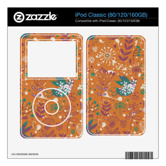 Whimsical Floral Birds iPod Decals