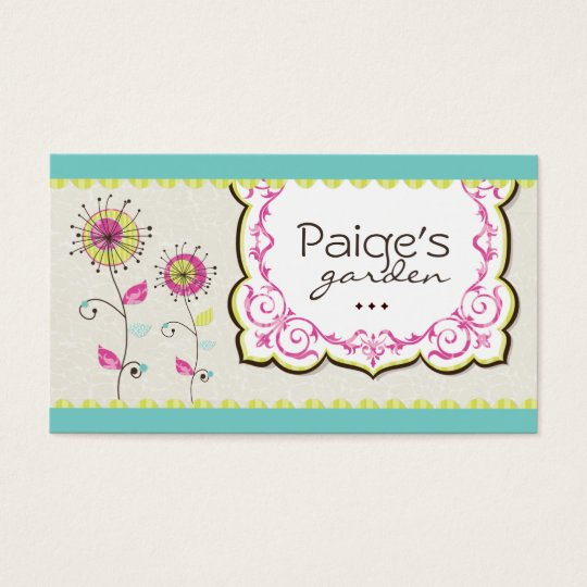 Whimsical Floral Business Cards