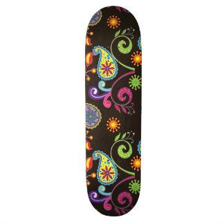 Whimsical Floral Design Skateboard Deck