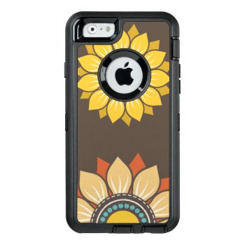 Whimsical Floral Modern Pattern Otterbox Defender Iphone Case by phonecase4you at Zazzle