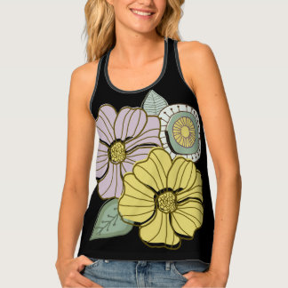 Whimsical floral tank top