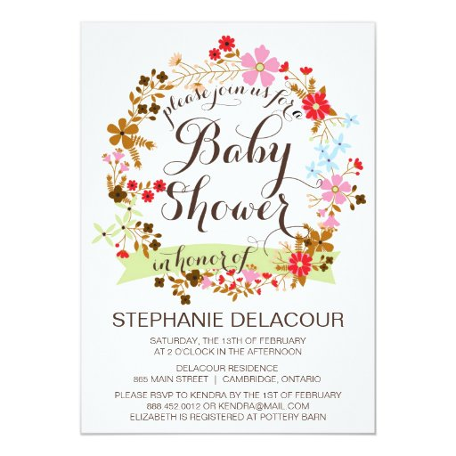 Floral Baby Shower Invitations could be nice ideas for your invitation template