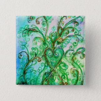 WHIMSICAL FLOURISHES bright green yellow blue Button