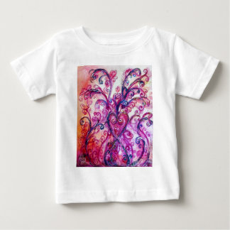 WHIMSICAL FLOURISHES bright pink purple white Baby T-Shirt