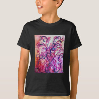 WHIMSICAL FLOURISHES bright pink purple white T-Shirt