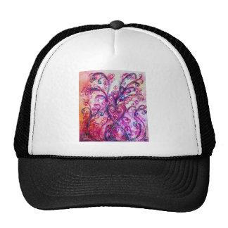 WHIMSICAL FLOURISHES bright pink purple white Trucker Hat