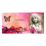 WHIMSICAL FLOURISHES bright red ,pink purple Card