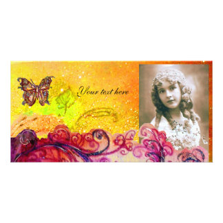 WHIMSICAL FLOURISHES bright red ,pink yellow Card