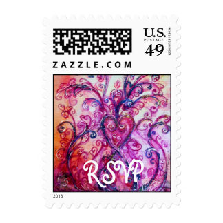 WHIMSICAL FLOURISHES  RSVP bright pink red purple Stamps
