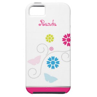 Whimsical Flower and Butterfly iPhone 5 Case