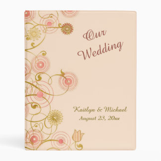 Whimsical Flower Border Wedding Memory Mini Binder